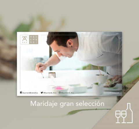 Tarjeta regalo menú Adarrak + maridaje gran selección; 2 personas