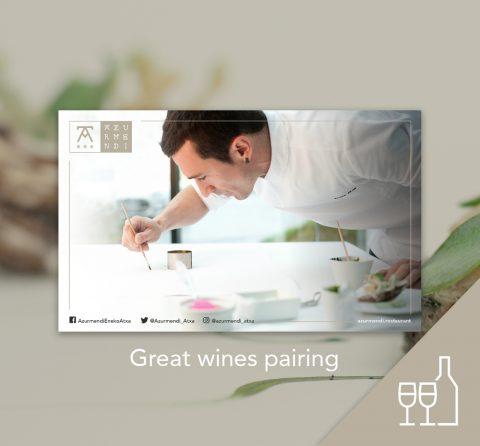 Adarrak menu gift card + great wine pairing; 2 people
